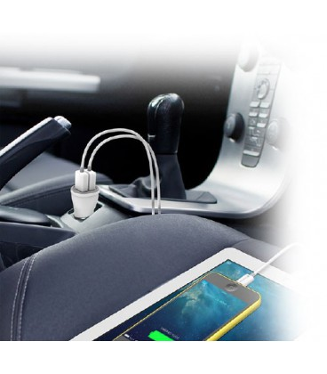 Kanex 2-Port Car Charger + 2 Lightning Cables