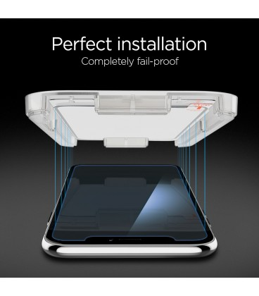 Spigen Glass GLAS.tR EZ Fit iPhone XS/X
