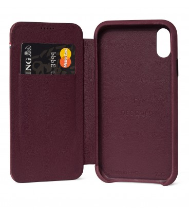 Decoded Leather Slim Wallet iPhone XR